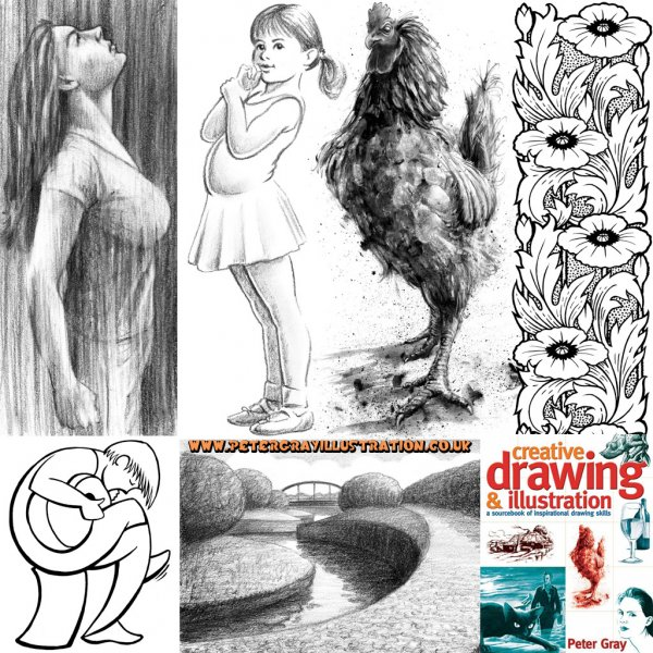 How to draw peter gray illustration for How to make creative drawings